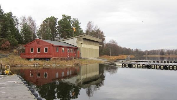 Klubbhuset og hangaren